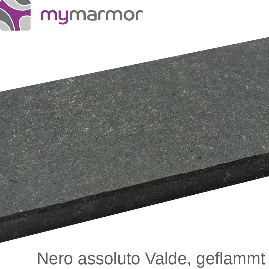 Mauerabdeckung Nero Assoluto Valde Auf Maß Mymarmorde
