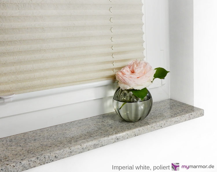 Fensterbank Imperial white, poliert