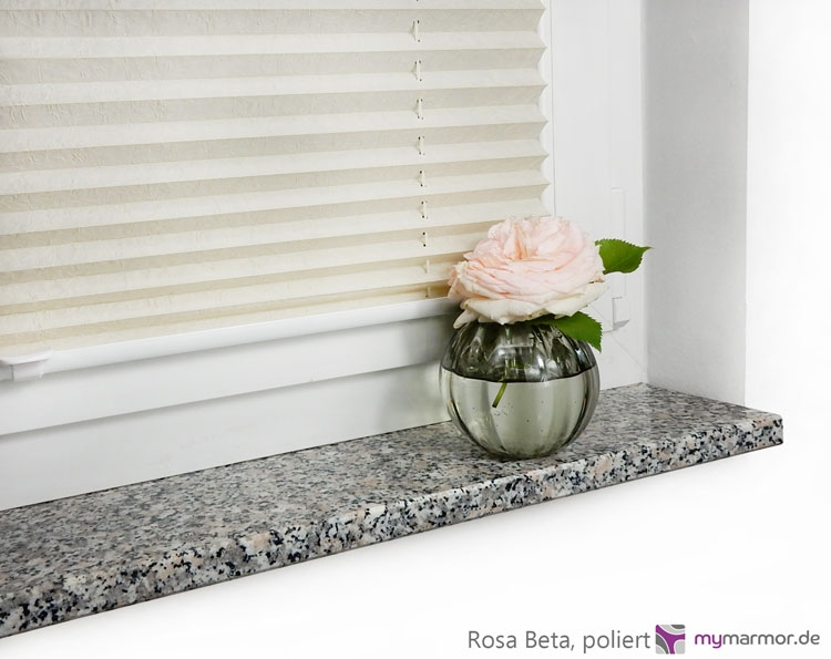 Fensterbank Rosa Beta, poliert